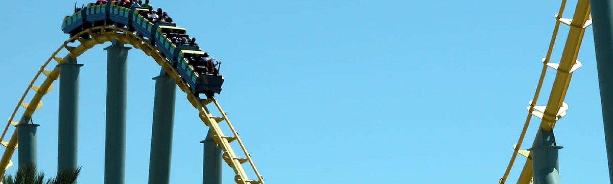 Rollercoaster at Six Flags Amusement Park